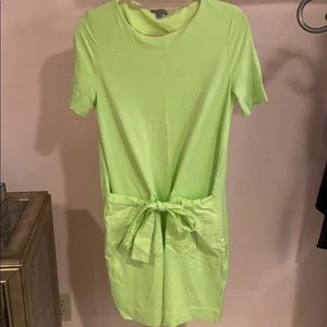 Cos neon green knit dress size small